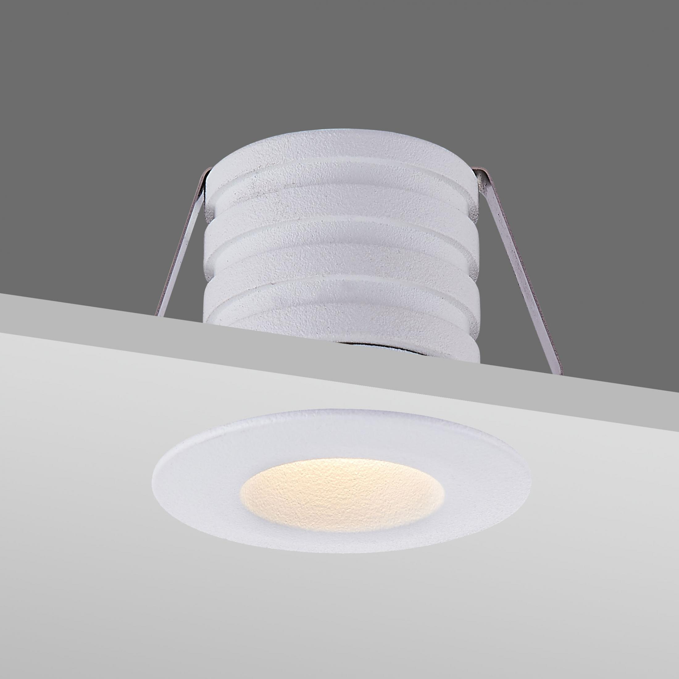 Interior recessed ceiling light