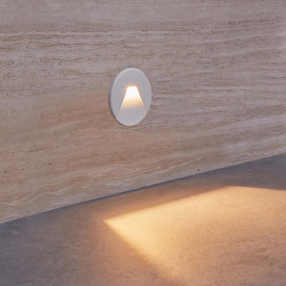round shape  recessed indoor led step light