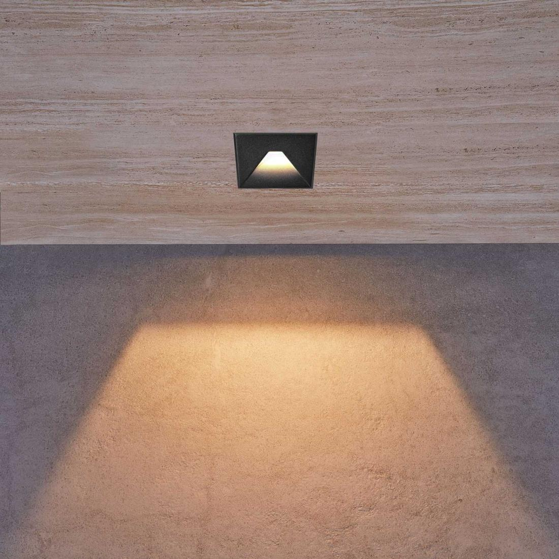 3W square shape front changeable cover stair lamp