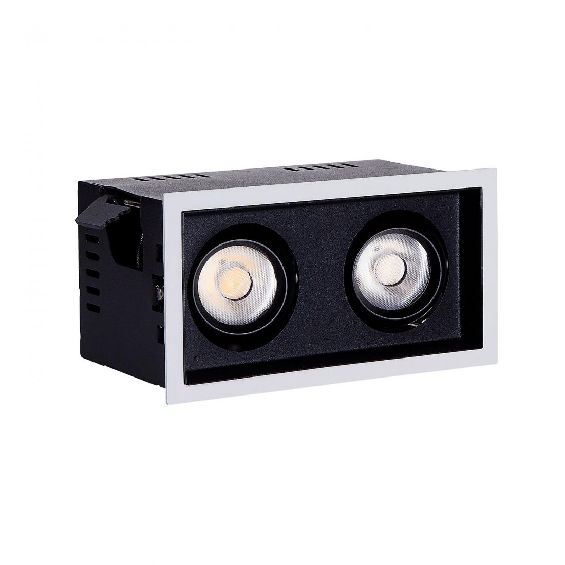 Dimmable Double Heads 20W COB LED Grille Downlight