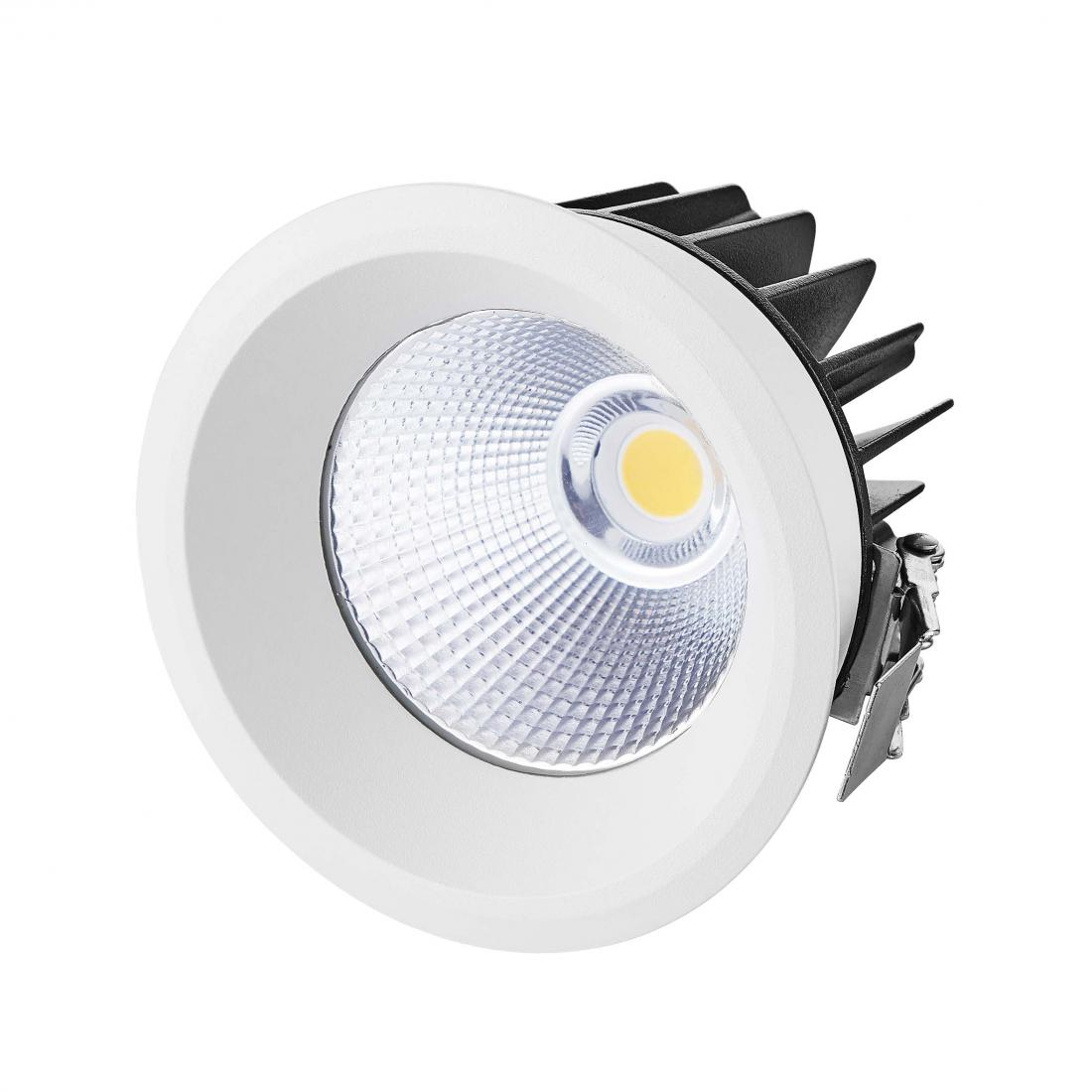 High CRI IP44 Fixed 15W COB LED Downlight