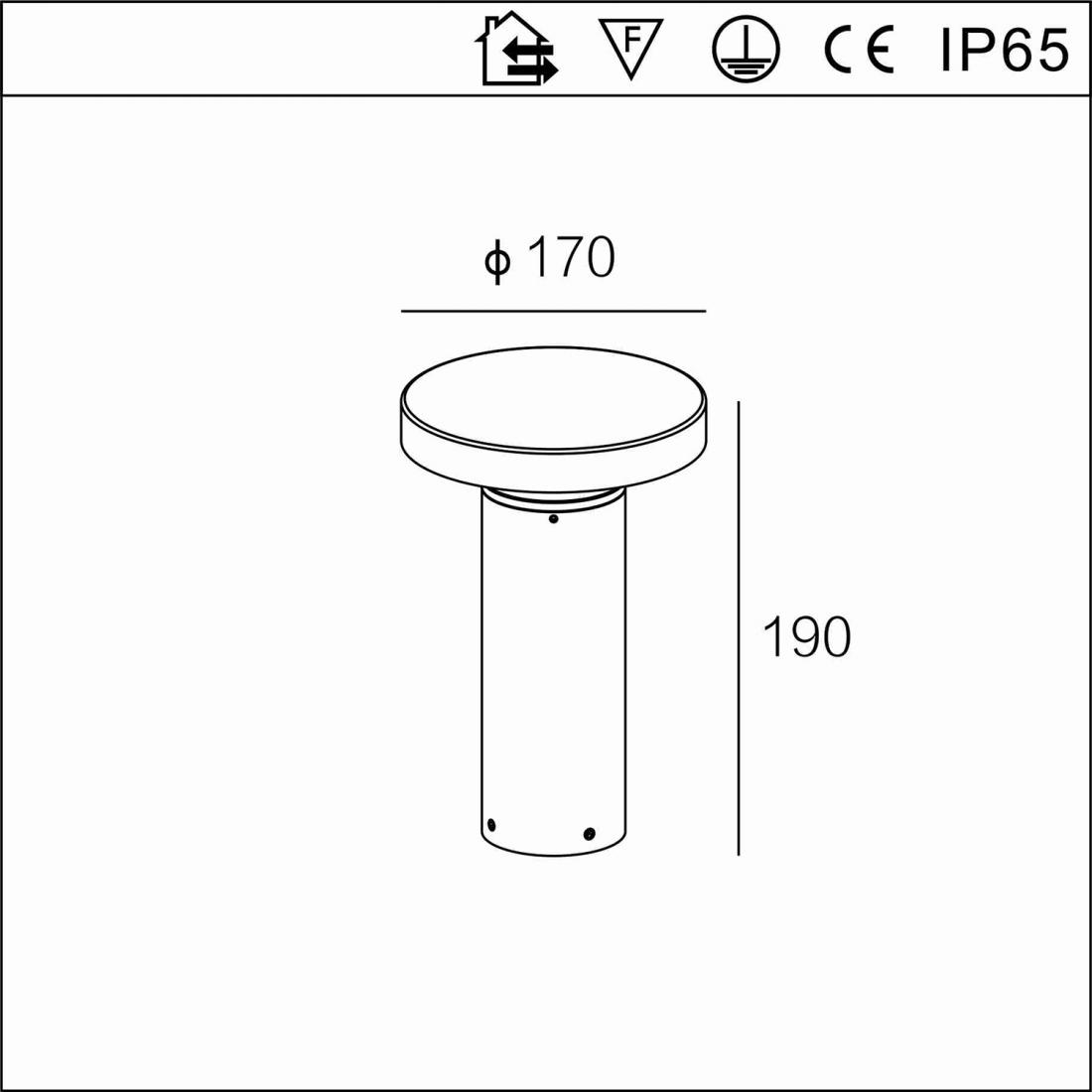 waterproof 6.5W Outdoor Bollard LED Garden