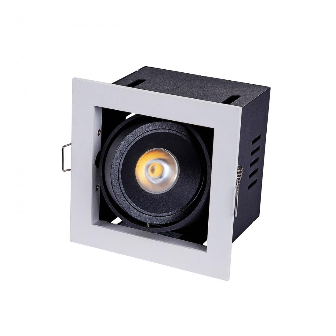 7W adjustable LED recessed square down light