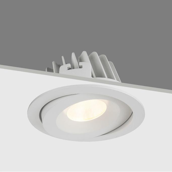 Commercial 30W COB LED IP54 waterproof adjust recessed downlightsable