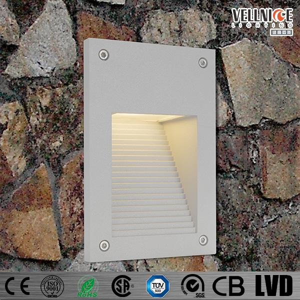 IP55 waterproof outdoor square step light fitting