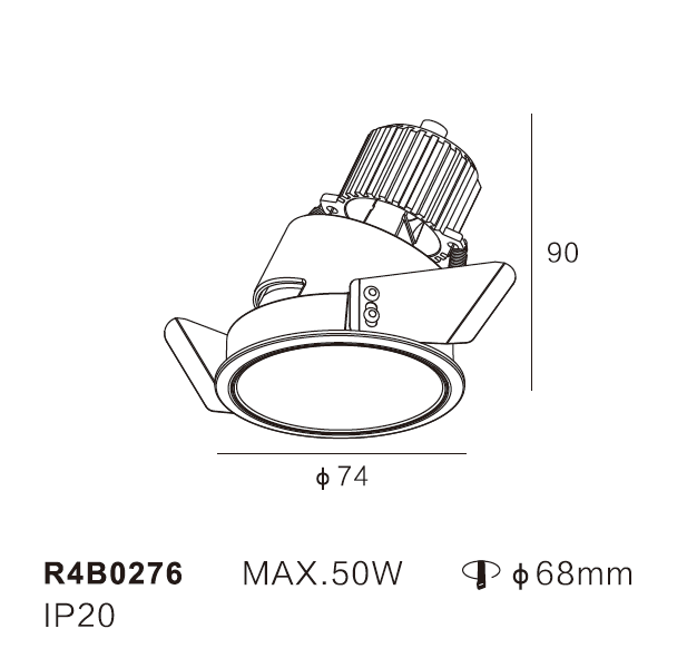mr16  Max.50W ceiling downlight